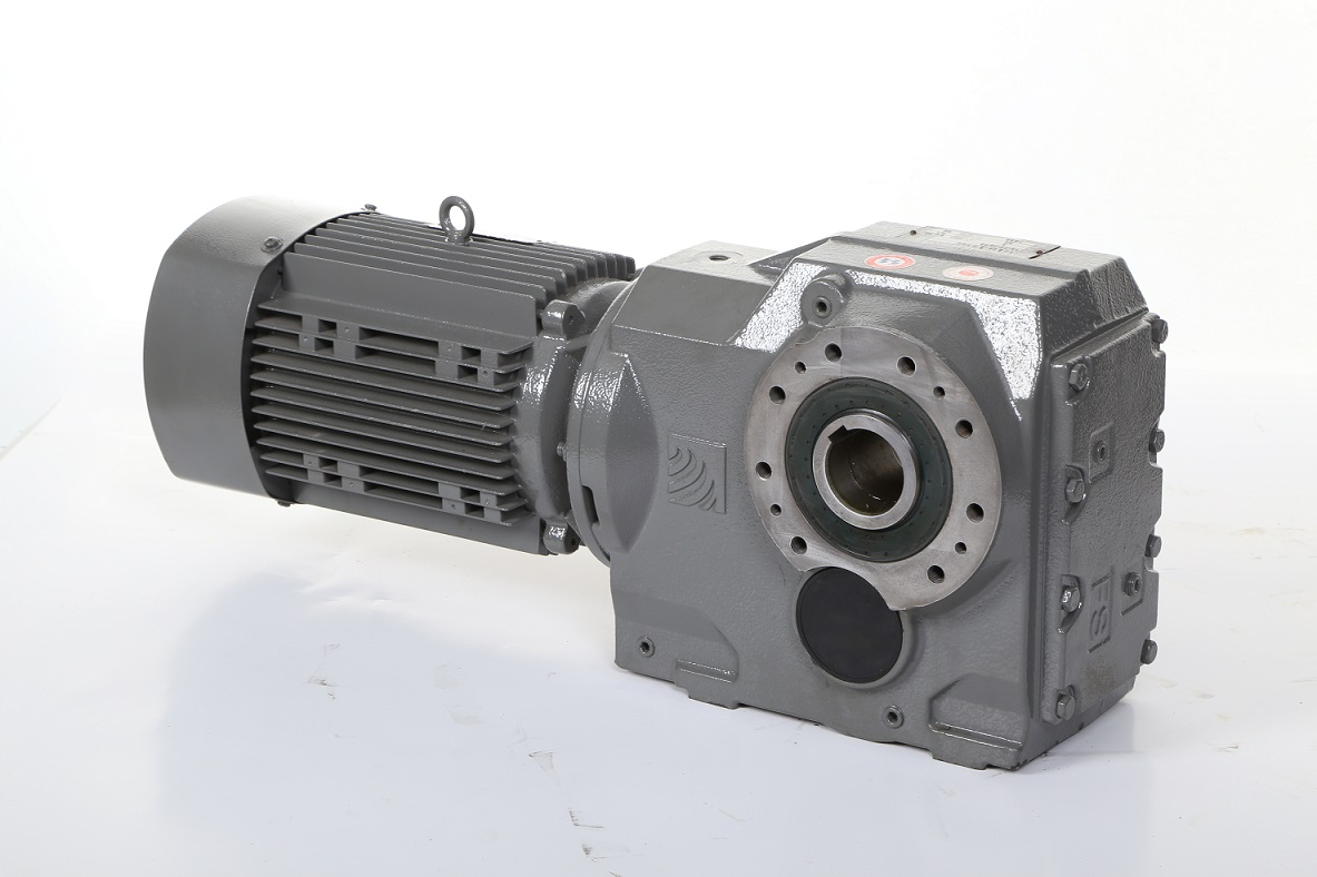 Helical Bevel Gearing Gearbox with Motor